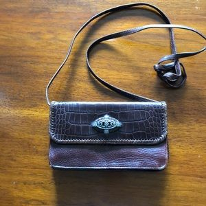 Brighton brown leather cross body bag